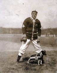 Waddell with St. Louis Browns Mascot