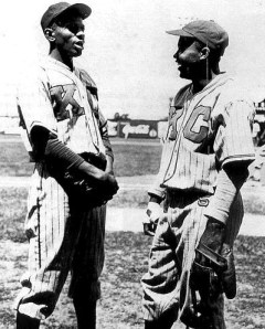 Satchel Paige and Jackie Robinson with the Kansas City Monarchs