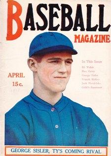 also from 1918, Sisler on the Cover of Baseball Magazine