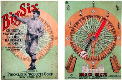 "Box cover and Game Board--Christy Mathewson ""Big Six"" Game"
