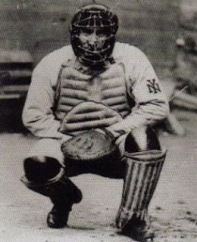 "Roger Bresnahan, 1907, more than 20 years after catcher's began to look like ""medieval knights."""