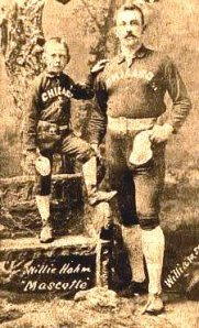Ned Williamson with White stockings mascot