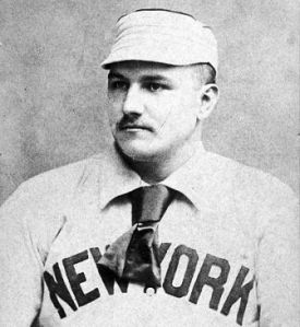 Amos Rusie started for New York