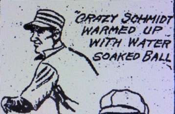 Al Demaree's Schmit cartoon--as with most references to the pitcher, his name is spelled incorrectly