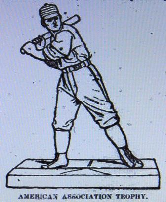 Newspaper drawing of Wiman's Trophy
