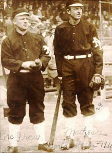 John McGraw and Christy Mathewson