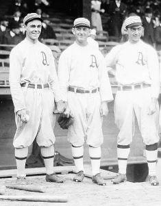 "Stuffy McInnis, Eddie Murphy and ""Home Run"" Baker,"