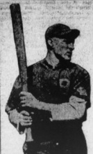 Butch Schmidt at bat