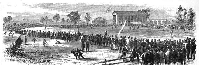 "Athletic of Philadelphia versus Atlantic of Brooklyn, in Philadelphia October 30, 1865--""a violent and widespread mania."""