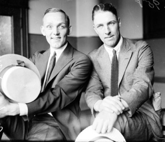 Buck Weaver and Swede Risberg during the trial