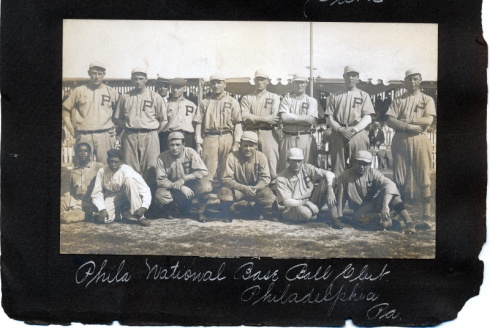 Phillies team photo from George Chalmers personal collection--appears to be the 1912 team.