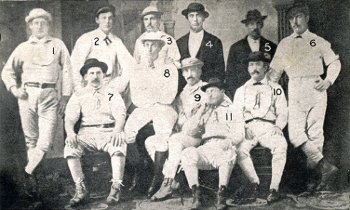 Zettlein, (7), Wood (8), Treacey (9), as teammates with the 1871 Chicago White Stockings.