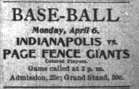 The Giants returned to Indianapolis in 1896, losing 16-3 to the Hoosiers