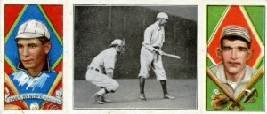 Bender and Thomas shared a baseball card--the 1912 T202 Hassan Triple Folder