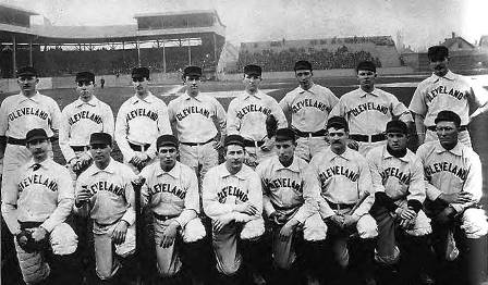 Lee Viau, front row third from right, with 1892 Cleveland Spiders