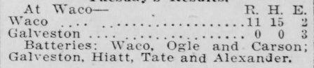Ogle's 1912 no-hitter