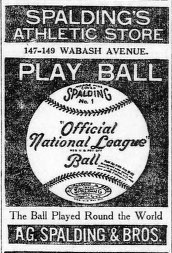 Spalding advertisement from 1890s