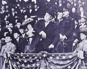 William Howard Taft throws out the first pitch in 1910