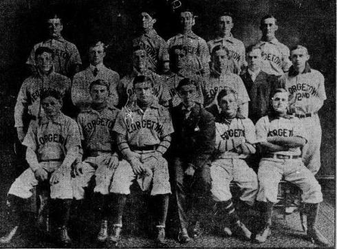 1905 Georgetown baseball team. Apperious is second from left in the center row