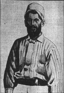 William Jennings Bryan in baseball uniform 1884.