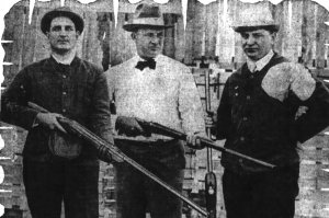 Overall (center) was president of the California-Nevada Trap Shooters Association (1918)