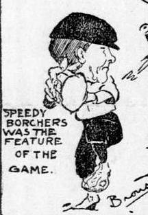 Caricature of Borchers from The San Francisco Call