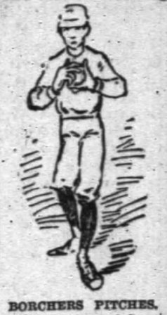 Caricature of Borchers from The Chicago Tribune--1888