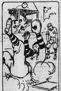 A cartoon which appeared with the 1914 retelling of the Gross story