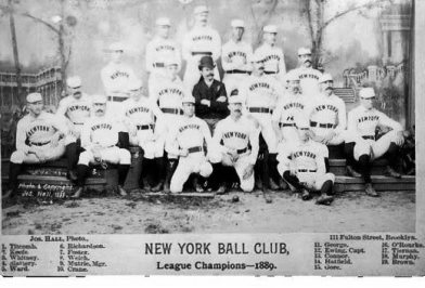 Many of the members of the 1889 Giants jumped to the Players League in 1890