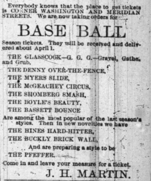 "Some of the advertisements from Indianapolis' ""Baseball Boom""  campaign"