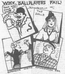 """Why Ballplayers Fail"" The illustration that accompanied Fullerton's column"