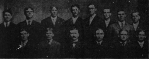 1906 Lynchburg Shoemakers, Virginia League champions. Grim is third from left on the bottom row.