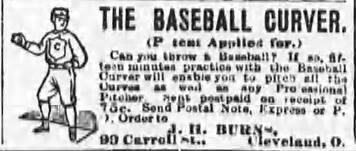 1888 Baseball Curver advertisment