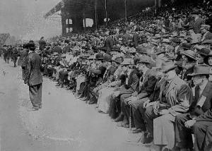 Fans at White Sox game circa 1910