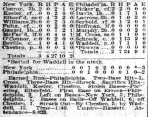 Elberfeld's greatest game, August 1, 1903