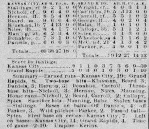 The Box Score Grand Rapids vs Kansas City