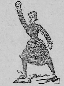 The St. Paul Globe's rendering of one of the 'Fairies.'
