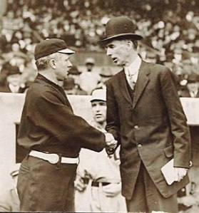 McGraw and Mack two years earlier at the 1911 World Series.