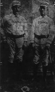 Clarence, left, and William Henry Berry played for the amateur Selma (CA) Tigers in the 1890s