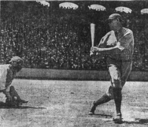 Cicotte strikes out Ruth