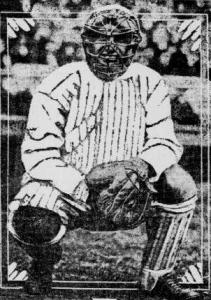 Hartley behind the plate