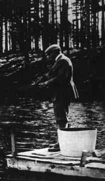 Ruth fishing in Sudbury