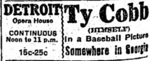 Ad for the film in Detroit